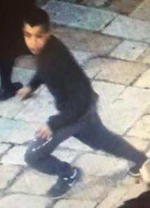 Arab boy fleeing scene of attack