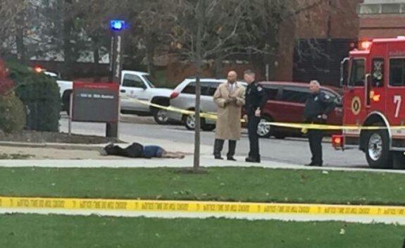 Attacker Dead on Street Source: Gateway Pundit/OSU Student