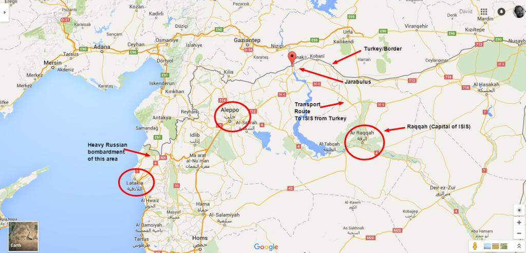 Jarabulus Google Maps
