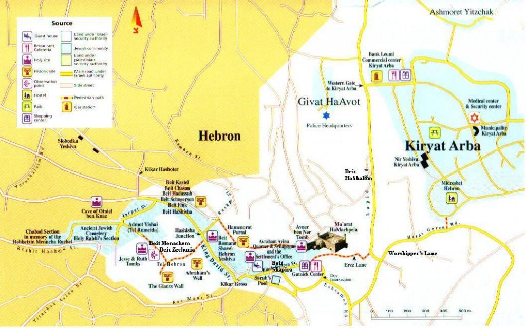 Map of Hebron, courtesy http://www.Hebron.com
