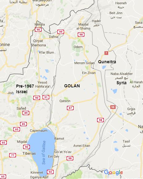 Quneitra and the surrounding area