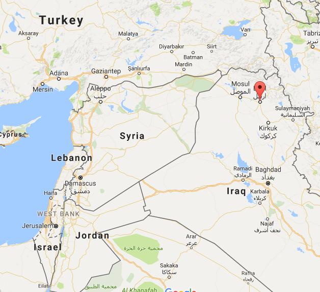 Location of Erbil, Iraq Source: Google Maps
